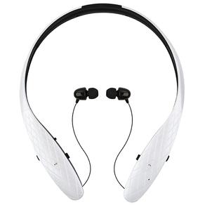 위드앤올 자동줄감개 넥밴드 블루투스이어폰, WNA-900BH, 펄화이트